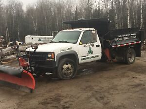 Plow/ sander and dump truck