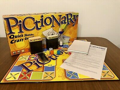 Pictionary Family Party Christmas Board Game - Complete Good Condition ()