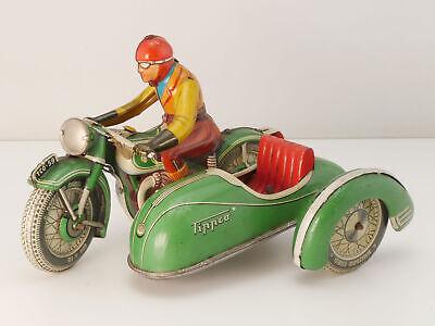 TippCo TCO 59 Motorrad mit Beiwagen Uhrwerk 50er Jahre original 16100228