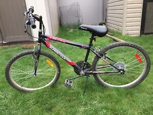 Supercycle 1800 Youth Hardtail Mountain Bike, Black, 24-in