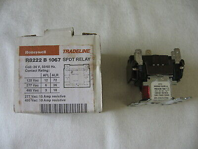 Honeywell R8222b1067 24v General Purpose Relay With Spdt Switching Furnace Relay