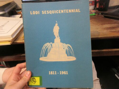 1961 Lodi Ohio Sesquicentennial History Book School Church Businesses People Old