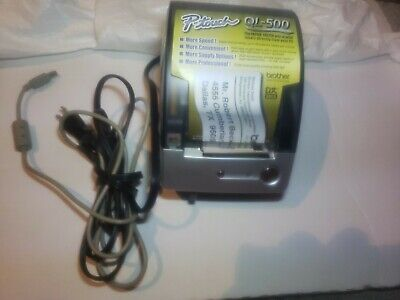 Brother P Touch Ql-500 Printer Shipping Usps Dk Rolls Lqser Quality 300 Daily