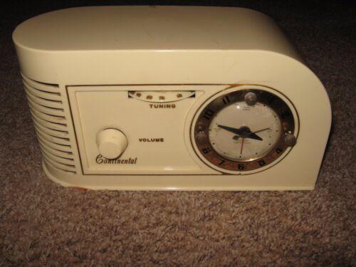 Vintage Continental 1600 Tube Clock Radio - Working