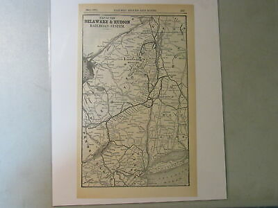Original map of the Delware & Hudson Railroad System ~ 1904