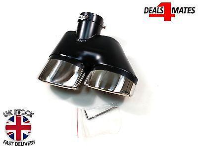 Sport Dual Twin Exhaust Muffler Pipe Tail Tip Chrome For Bmw E30 E32 E34 E36 E46