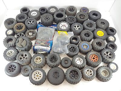 *HUGE!!* Lot of Used/Misc 1/10 Crawler/Monster Truck Tires and Wheels