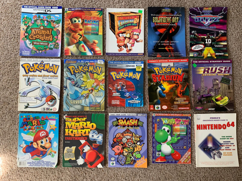 Pick and Choose Video Game Strategy Guides (N64 GameBoy, GB Advance, DS, SNES)