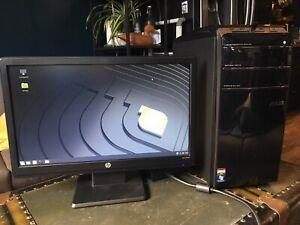Desktop Computer with LED HD monitor