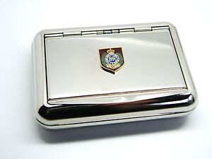 THE-ROYAL-ENGINEERS-SAPPER-PRIVATE-BADGE-ARMY-CHROME-PLATED-TOBACCO-TIN-MILITARY