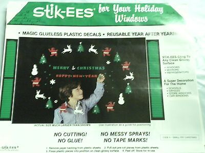 Christmas Decoration Clings Small Fry Christmas New Year for Windows & More  NEW