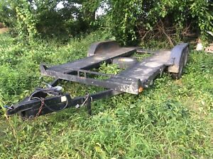 CAR HAULER 16FT TANDEM AXLE UTILITY TRAILER WITH RAM FLAT BED