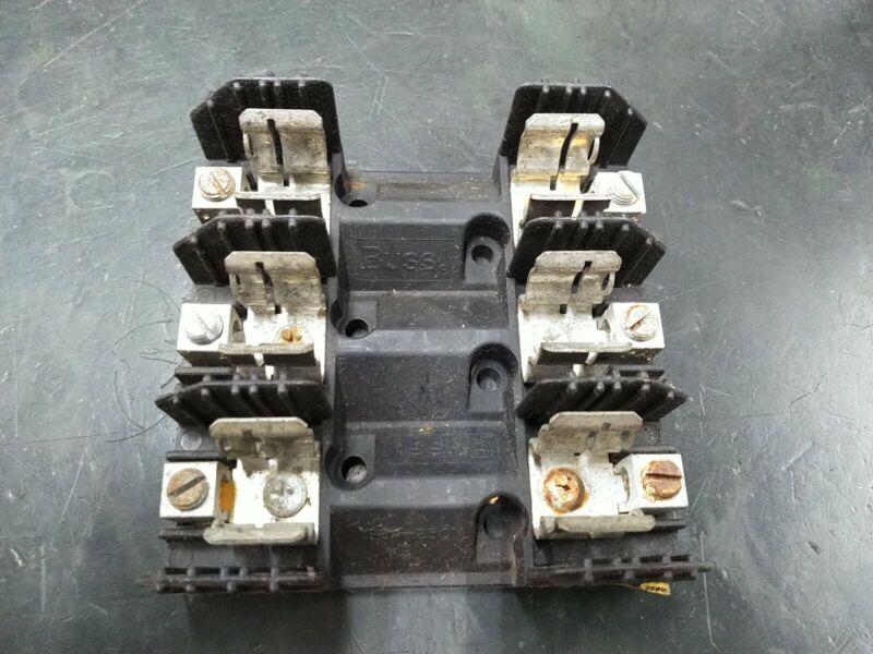Bussmann H25060-3C Fuse Block 3-Pole 250V 60A for Class H Fuses