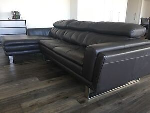 Gainsville leather sofa and chair Melbourne CBD Melbourne City Preview