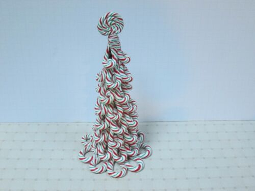 """Accessory for Byers Choice- 11"""" Mini  Peppermint Candy Tree New"""