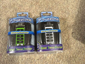 Buzztime trivia game controllers and catridges