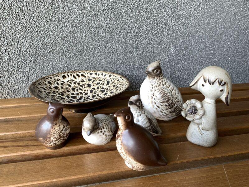 Howard Pierce Birds Bowl Girl CERAMIC POTTERY MID CENTURY Modern ERA