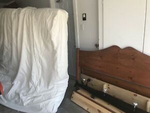 King size handcrafted bed w mattress