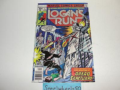 Logans Run  4 Comic Marvel 1977 George Perez Bronze Age Science Fiction Movie