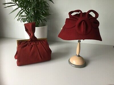 Vintage 40s Hat and Handbag
