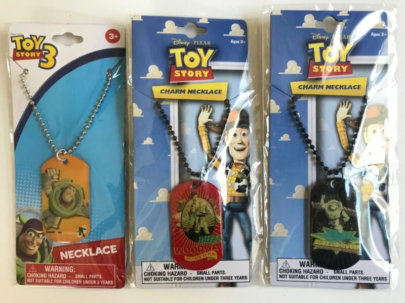 Dog Tag Charm + Adjustable Necklace Toy Story Buzz Woody Party Favor NEW