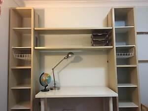 Study Desk with High Shelf Unit Baulkham Hills The Hills District Preview