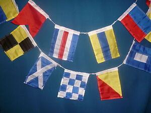 40 international code flags signal navy yacht boat bunting nautical 20 x15cm