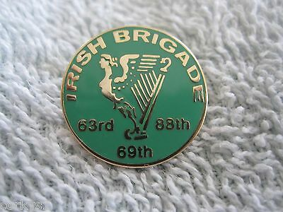 """The CIVIL WAR """"IRISH BRIGADE"""" Regiment w/Irish Maiden & Harp Irish Brigade Pin"""
