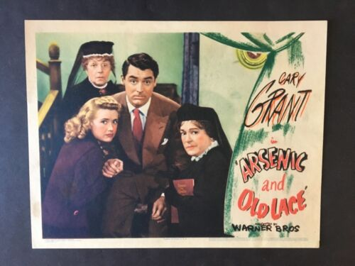 ARSENIC AND OLD LACE '44 CARY GRANT PRISCILLA LANE JOSEPHINE HULL BEST CARD
