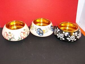 Spectacular Prinknash Pottery 4 cm Sugar Bowl (choice of 3) Price is for EACH.