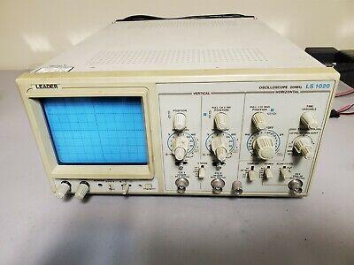 Leader Ls1020 Analog Oscilloscope 20 Mhz 2-channel