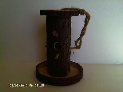 Hollow Log bird feeder