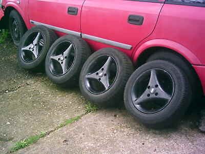 "TSW ALLOY WHEELS, ROVER, VAUXHALL. 14"",  RARE. tyres 185/60/14 are old"
