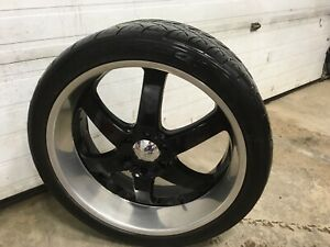 24 inch boss rims and tires 90% treads