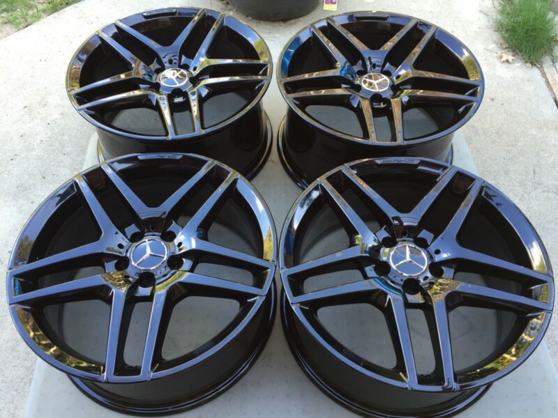 "19"" New 2017 W222 S63 S65 Cl63 S500 S550 Sl Cls Factory Mercedes Amg Black Wheel"