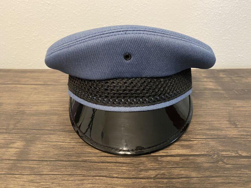 Vintage Midway Cap Co Five 4 Star Police Hat Chicago Light Blue  7 1/4