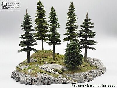 Bulk Lot of Rocky Mountain High Model Trees for model trains, dioramas, and -