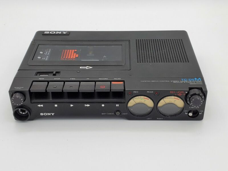 Sony TC-D5M Portable Stereo Cassette Recorder - Tested!