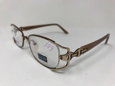 Glow Womens Eyeglasses Butterfly Rim Mod.18 52-18-135 Brown Polish/Gold HQ71 - Glow Eyeglasses