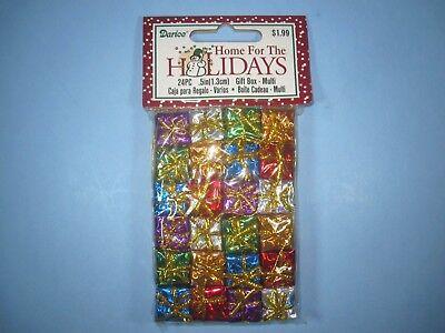 Miniature Holographic Foil Gift Boxes Christmas Presents decoration 24 pc. 1/2