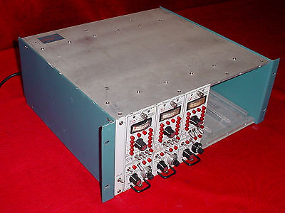 Trig-tek 4113 Cabinet W 3- 203tf Charge Amplifier 115 Vac Modules