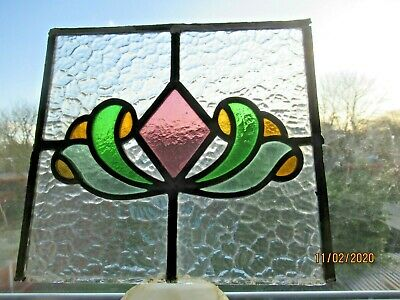 LOVELY ORIGINAL ART NOUVEAU STAINED GLASS WINDOW