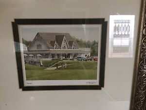 "Walter Campbell print in frame entitled ""Fairways"" Kawartha Lakes Peterborough Area image 1"