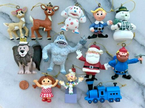 Rudolph Reindeer Christmas Ornament Set 12 Bumble Clarice Herbie  Misfit Toy WOW
