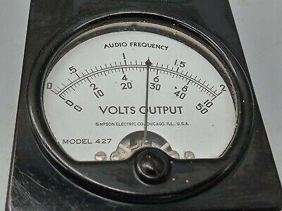 Weston Model 427 Output Voltmeter