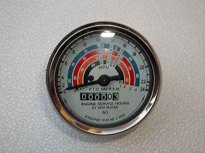 Clockwise Fordson Power Major Super Major Tractor Tachometer 80mm Blue