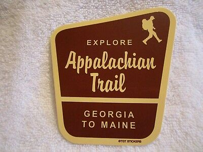 "EXPLORE ""APPALACHIAN TRAIL"" - GEORGIA To MAINE - SOUVENIR TRAVEL STICKER / DECAL"