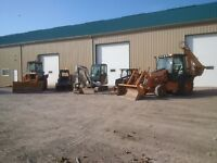 Skid steer/backhoe/mini excavator services