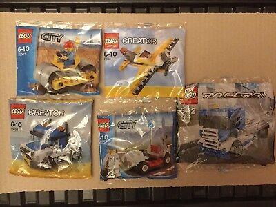 Lego Polybag Bundle - Roller, Plane, Trucks, Medic - City, Creator, Racers New