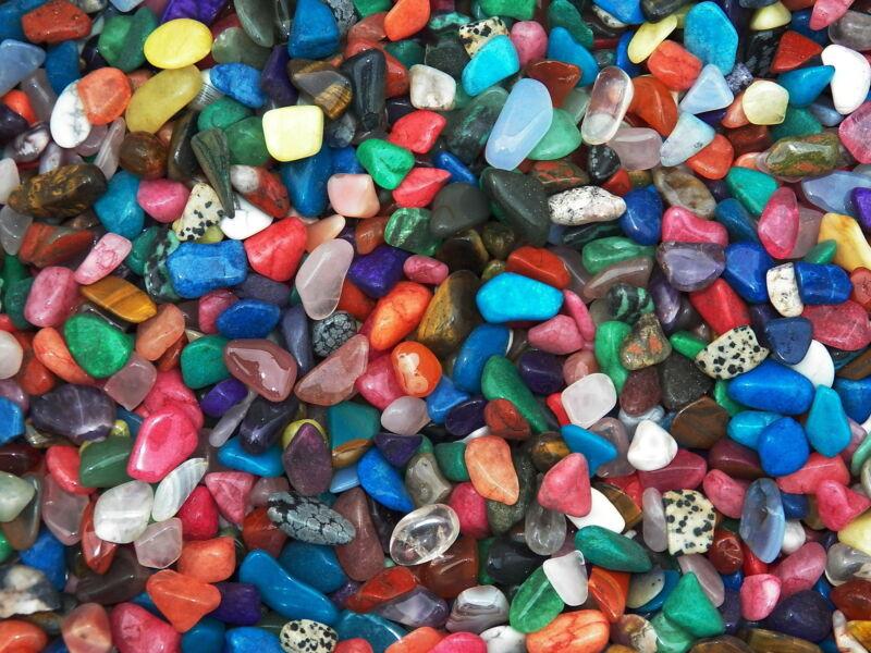 TUMBLED POLISHED GEMSTONE MIX #3 - Over 1000 Carats and 100+ Gemstones